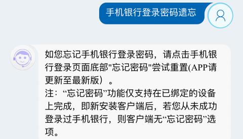 中国建设银行app登录密码忘记了